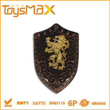 Popular Series Bronze Handguard, Shield and Soft Toy Sword, Plastic Sword Toy Weapon