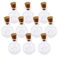 5ml Small Mini Glass Bottles vials, Mini Glass Jars with Cork Stoppers