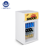 Compact Counter Top Refrigerated Display Cabinet/mini bar fridge