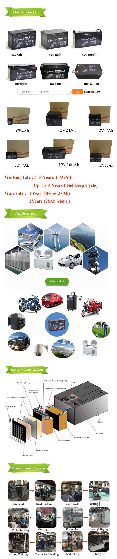Shenzhen Werksversorgung 12v Blei-Säure-Batterie Akku 12v38Ah für Elektromotor
