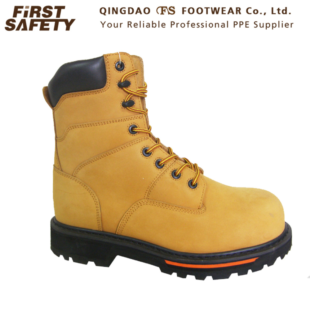 Work FS1273 Leather Composite Man Upper Nubuck Wheat Boots Safety Welt with Goodyear Boots Toe for rPwqSr1Ex5