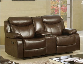 Italie En Cuir Double Inclinable Causeuse Canape Avec Console Buy