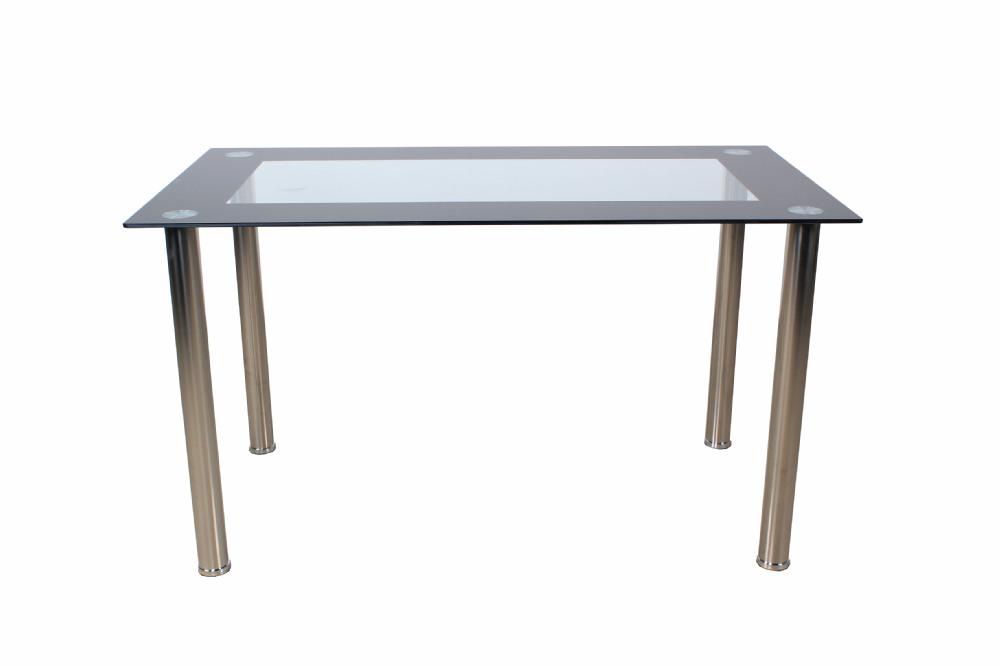 6 Persoons Tafel : 6 persoons eettafel glas moderne eetkamer meubels tafel en stoel te