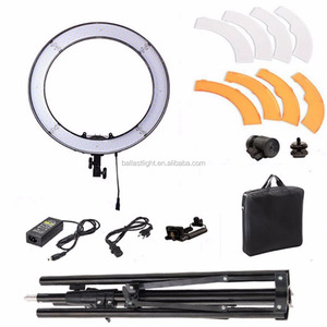 18 inches dimmable led photography light ring light 5500k 55w led video ring light