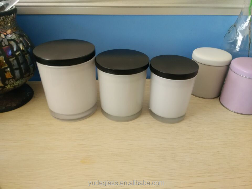 High quality black candle jars wholesale, glass candle jars with ...