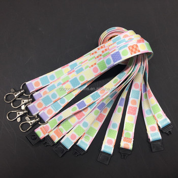 colorful custom design lanyards no minimum order New product lanyard with metal buckle for party gifts