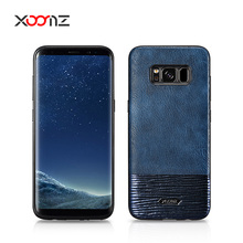 XOOMZ Splicing Brilliant PU Leather Mobile Phone Cover Case for Samsung Galaxy S8 S8 Plus