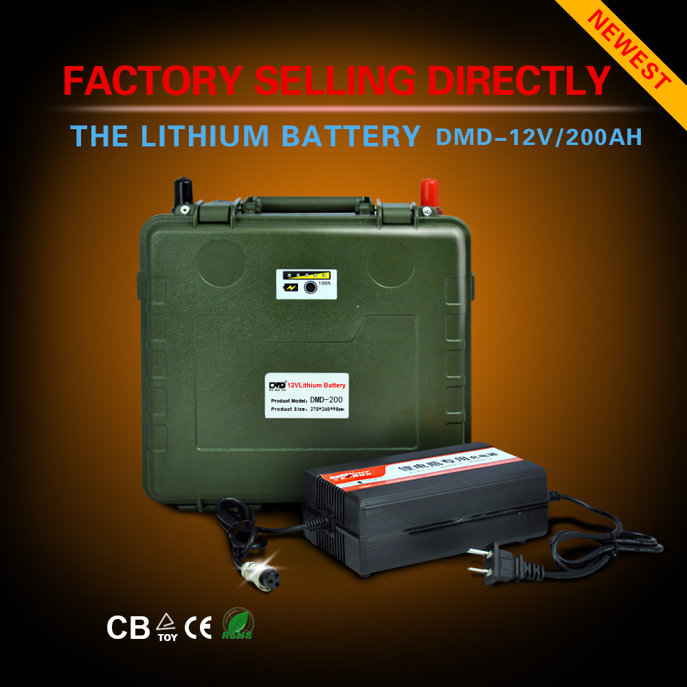 Competitive price Deep cycles ultra thin ultra light 12v dc 200ah rechargeable battery