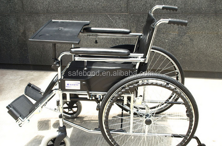 Folding High Back Wheel Chairs With Table And Wheels