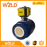 WZLD Competitive Carbon & Stainless Steel Ceramic Material Motorized Ball Valve Made In China