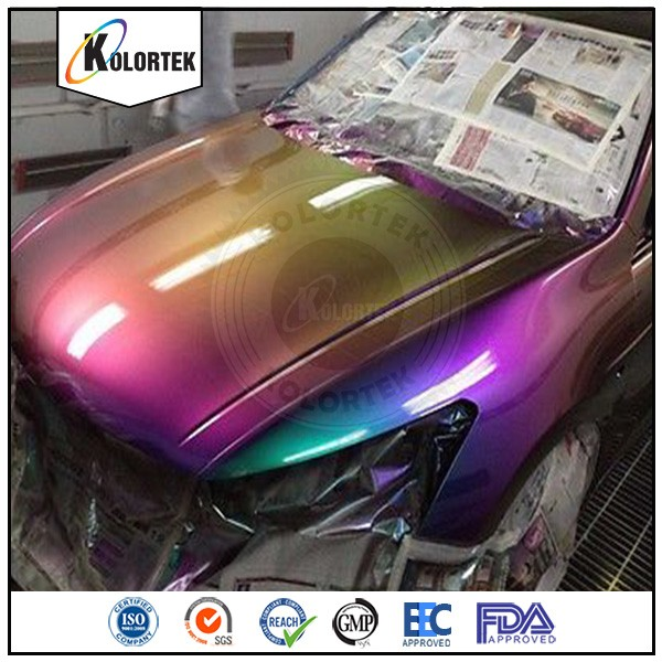Chameleon 7 Tone Paint: Blue Crystal Ghost Pearl Pigment For Auto Paint,Car Paint