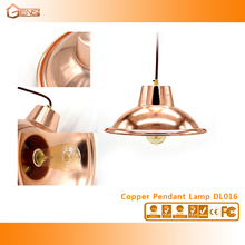 Copper pendant lighting lamp