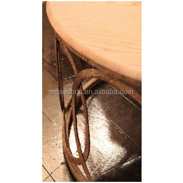 industrial reclaimed wood furniture. Rustic Metal Industrial Reclaimed Wood Table Furniture Round Interlocking Circle Coffee