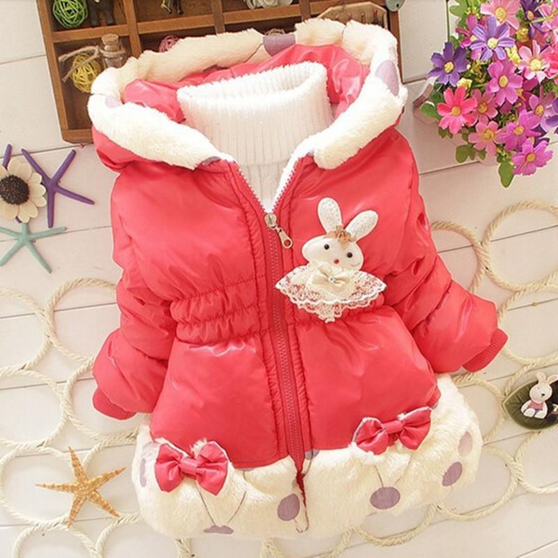b9401c06b free shipping 2015 Winter baby girls Parkas Children s cute hoodie ...