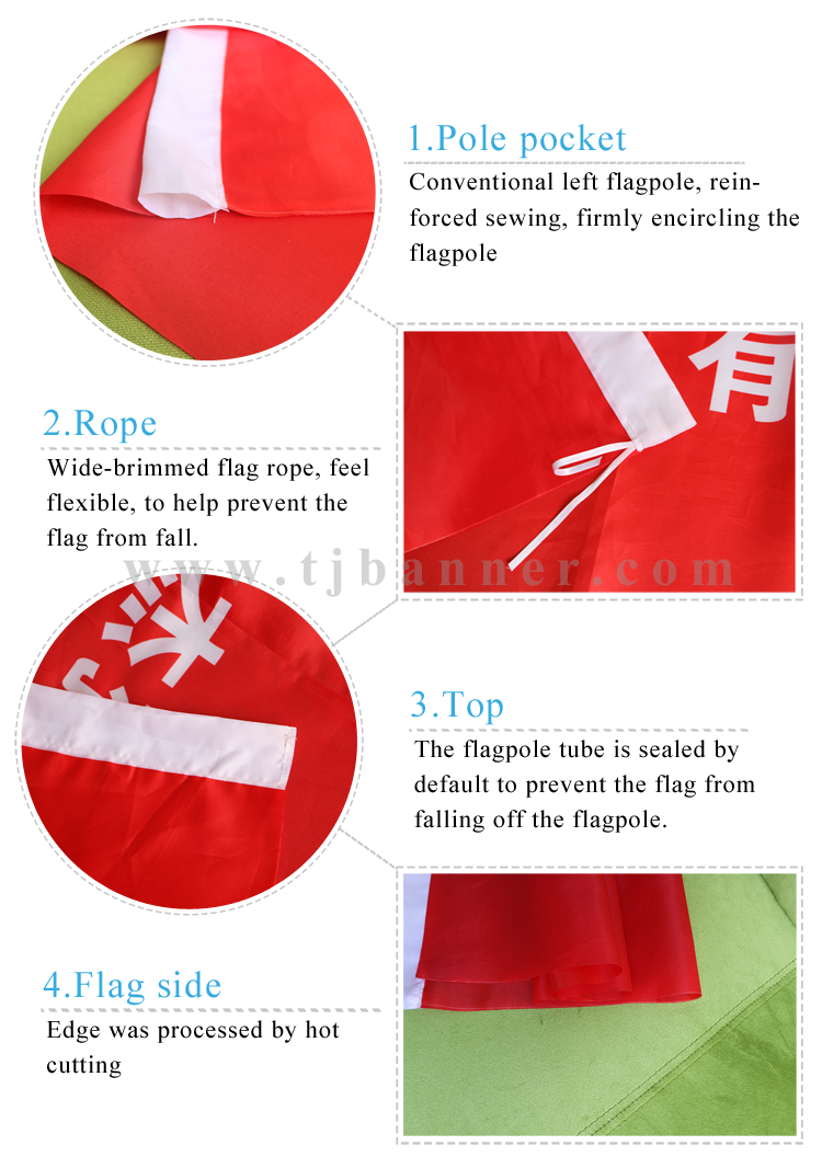 High Quality Good Selling Polyester Flag With Eyelets And Pockets