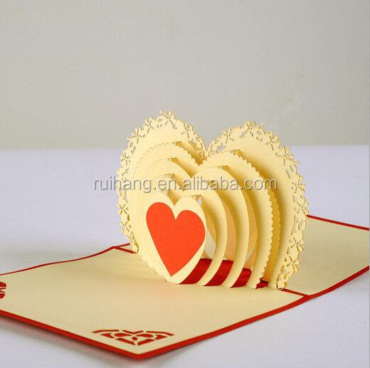 Herz Süß 3d Einladungskarten Gruß Der Hochzeit