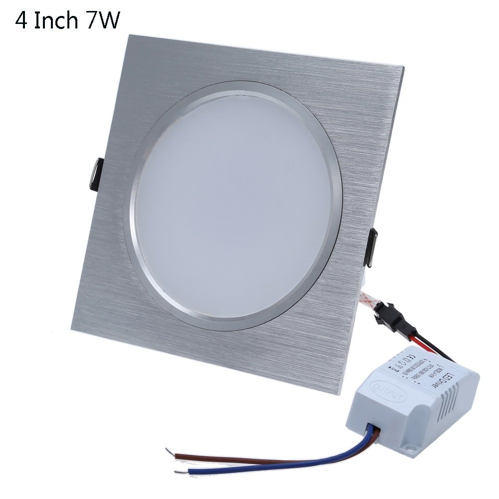 Square 4 Inch 7W LED Panel Light Ceiling Downlight