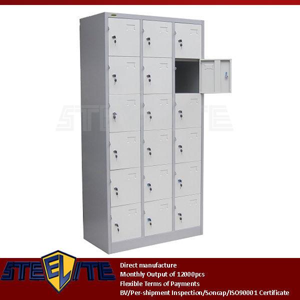 Multi Door Pigeon Hole Cabinet / 3 Layers 15 Doors Steel Locker For  Swimming Pool Changing