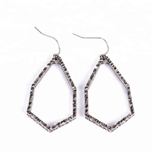 Vintage style jewelry antique silver geometric shaped women earrings