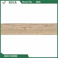 Classical rustic wooden balcony floor 3d porcelain floor ceramic tiles