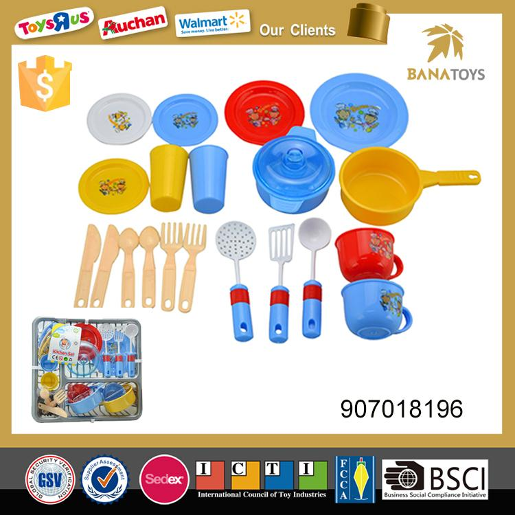 Children pretend play mini kitchen set toy