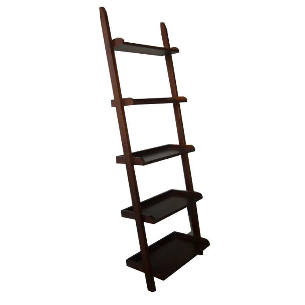 Get Quotations · BTEXPERT Premium Wooden 5-Tier Leaning New Ladder Style Wall Corner Slant Magazine Book Shelf  sc 1 st  Alibaba & Cheap Book Shelf Ladder find Book Shelf Ladder deals on line at ...