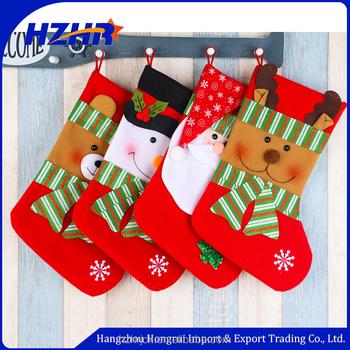 wholesale christmas kids gift bag big size christmas sock for decorationfelt christmas stocking - Wholesale Christmas Stockings