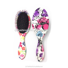 Best sale China human make up the wetting detangling plastic hair brush