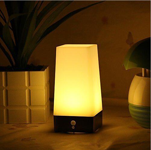 Modern Wireless Pir Motion Sensor Table Lamp Bedroom Decor
