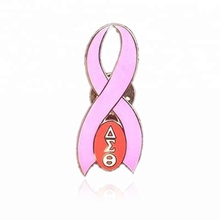 DST do grêmio Grego Delta Sigma Theta Breast <span class=keywords><strong>Cancer</strong></span> <span class=keywords><strong>Awareness</strong></span> Pink Ribbon Pin