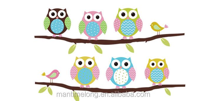 Burung Hantu Di Pohon Dinding Stiker Untuk Kamar Anak Anak