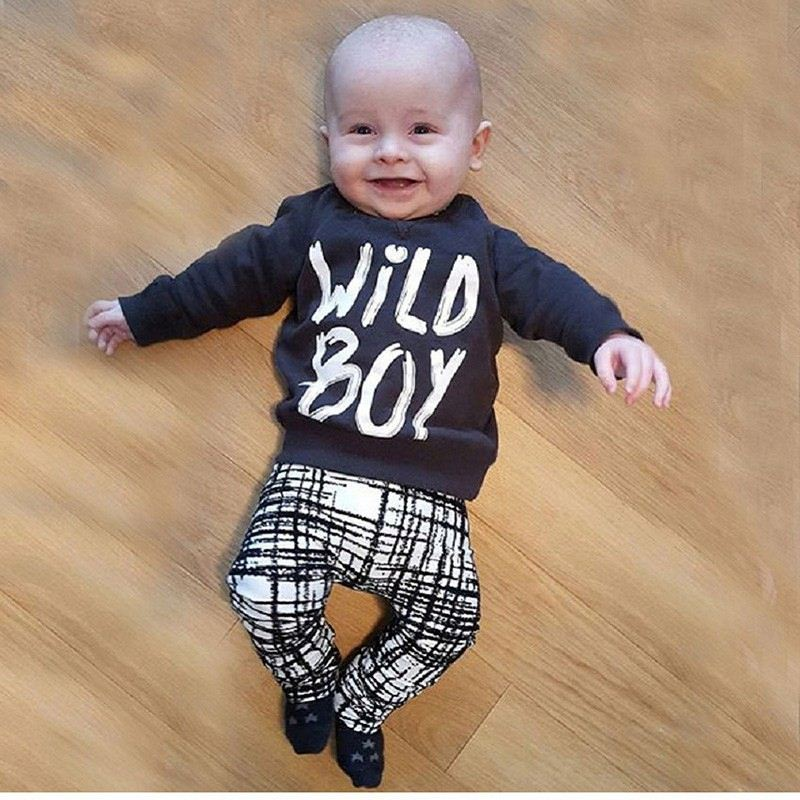 AiLe Rabbit 2016 autumn baby boy clothes Long sleeve Top + pants 2pcs sport suit baby clothing set newborn infant clothing