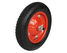 Free sample small rubber wheel barrow tire with bearings