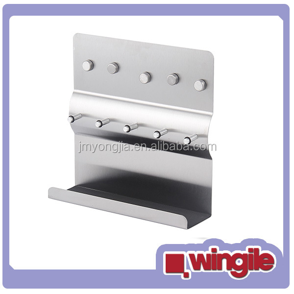 stainless steel Magnets message board with key holder
