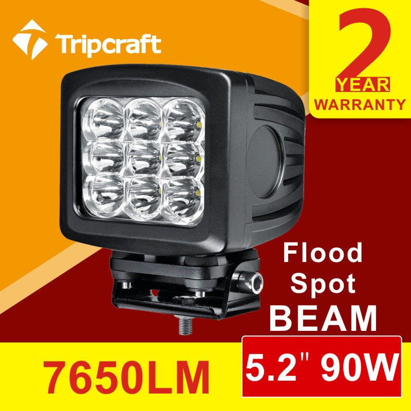 Warranty 2 year 12-30V 5 inch spot beam C.REE driving off road 90W car led work light