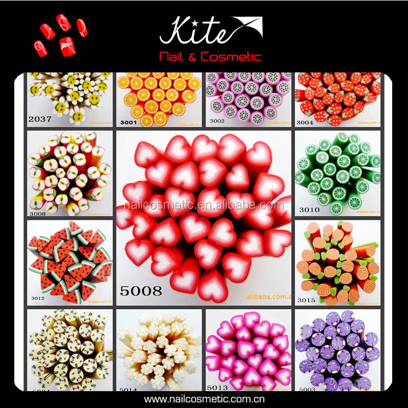 3d nail art / fimo for nail art decoration / fimo polymer clay
