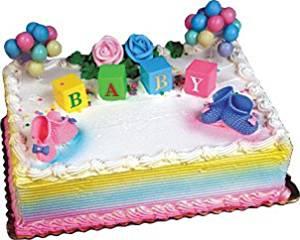 A1BS Cake Decoration BABY BLOCKS CAKE KIT