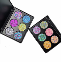 2019 Wholesale 6 Color Glitter Private Label Pressed Eyeshadow Palette With High Pigment Maquiagem Makeup New Products
