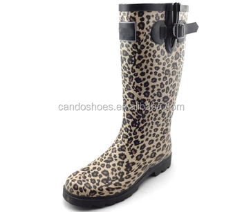 1bd8eb63c8aa 2018 Latest Knee Ladies Rain Boots Sexy Women Leopard Rain Boots ...