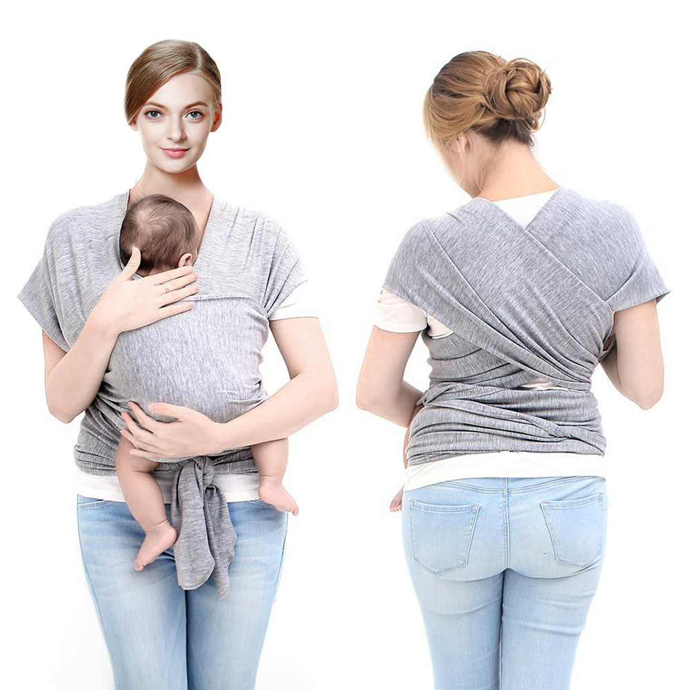LAT manufacturers cheap newborns grey bottle natural stretchy ergo children cotton bath wrap carrying carrier bamboo baby sling