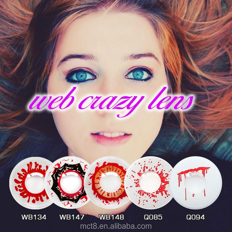Halloween Cosplay Contacts Wild Zombie Scary Eye crazy contact lens