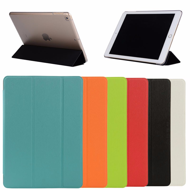 new color clear back cover auto wake-up smart case for <strong>iPad</strong> 9.7 2017