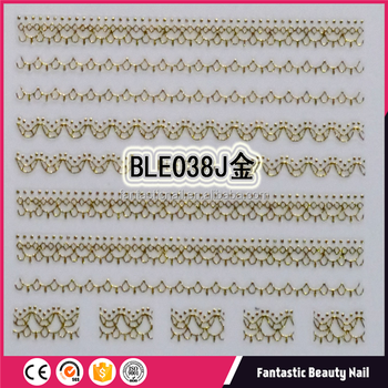Best Selling Sale Nail Art Accessories Manufacturer Golden Lacies