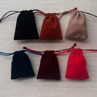 China factory supply velvet drawstring pouch bags