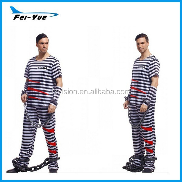 Hot Sale Halloween Adult Prisoner Costumes Robin Costume Arabian King Costumes