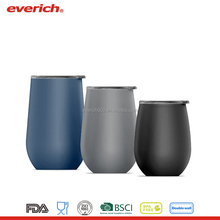 Everich Customized Insulated Double Wall Stemless Stainless Steel Wine Glass