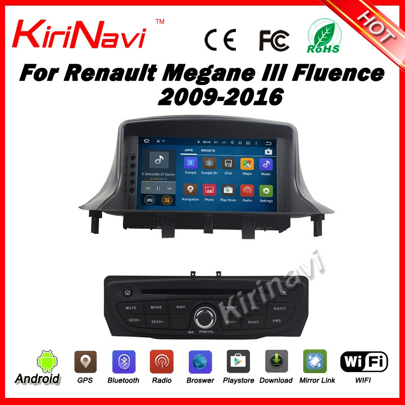 Kirinavi WC-RM7092 android 5.1 car audio player for renault megane 3 2009-2016 car radio gps touch screen DVD player
