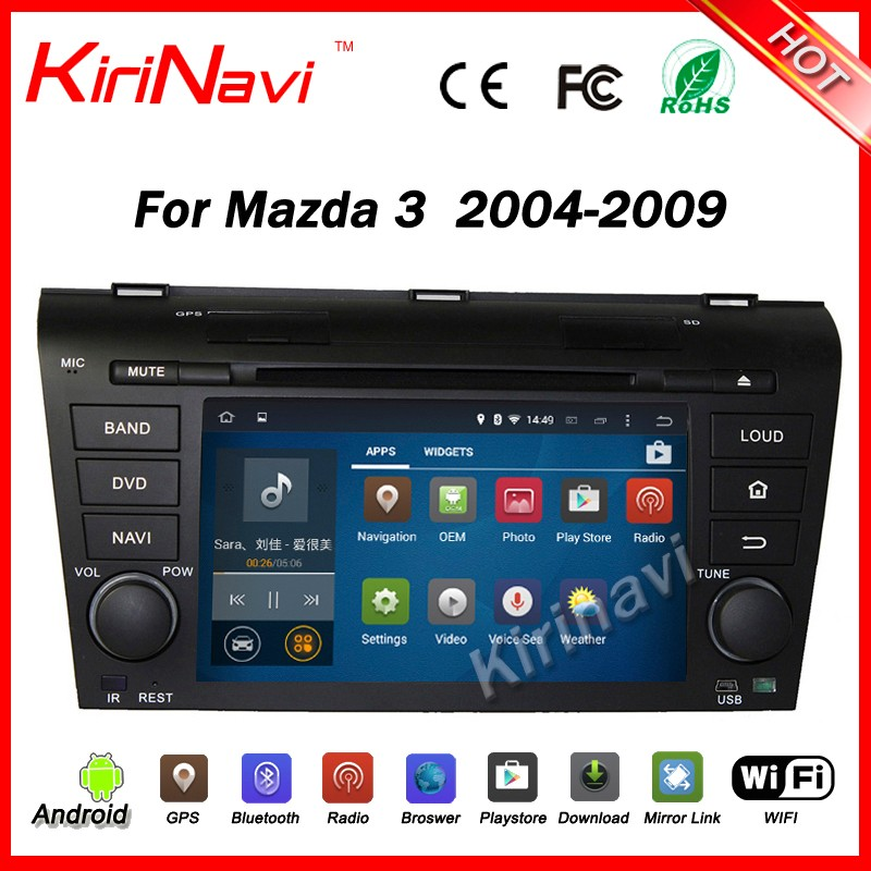 Kirinavi WC-MZ7003 android 5.1 car audio for mazda 3 2004-2009 multimedia system WiFi 3g bluetooth