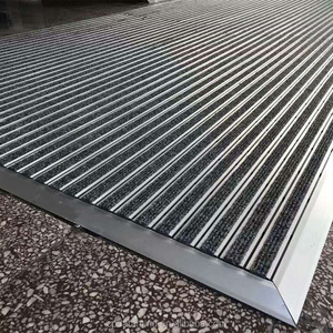 durable door mat rubber cover with aluminum frame door mat