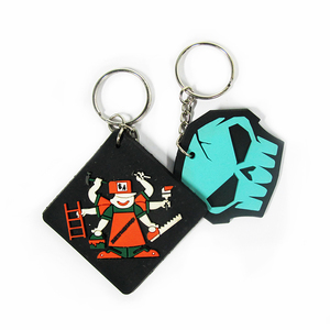 Customized made 2D / 3D embossed soft pvc keychain for factory wholesale with your logo